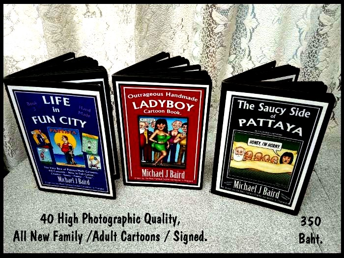 Mike Baird's signed & handmade books about Pattaya