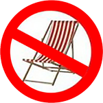 No Deck Chairs allowed on Beaches